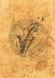 Перо Grunge с птицами бесплатная иллюстрация
