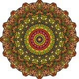 Персидская kaleidoscopic мандала twirl искусства abstact глубоко цифровой красный стоковые фотографии rf