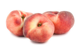 3 персика paraguayos плоских Стоковые Изображения