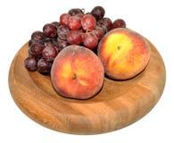 Персики и виноградины Стоковое Изображение