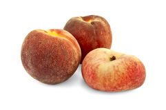 Персики круглые и плоские Стоковые Изображения RF