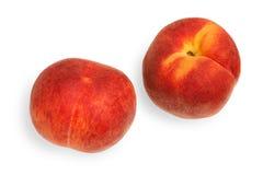 персики предпосылки белые Стоковые Изображения RF