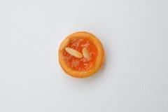Персики сжимают пирог Стоковые Изображения