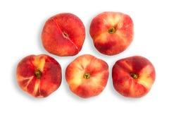 Персики с путем клиппирования Стоковое Изображение