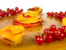 персики торта Стоковая Фотография