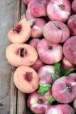 Персик донута Стоковая Фотография
