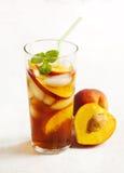 Персик заморозил чай Стоковая Фотография