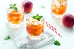 Персик заморозил чай Стоковые Изображения