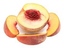 Персик изолированный на белизне Стоковые Фото