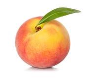 Персик изолированный на белизне Стоковая Фотография