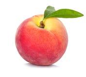Персик изолированный на белизне Стоковое фото RF