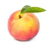 Персик изолированный на белизне Стоковое Изображение