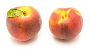 Персик на белизне Стоковая Фотография RF