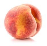 Персик на белой предпосылке Стоковые Изображения