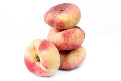 Персик смоквы изолированный на белой предпосылке Стоковые Изображения