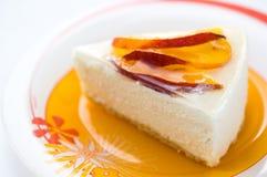 персик cheesecake Стоковые Фото