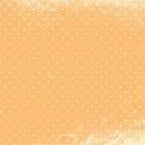 Персик Grunge польки Стоковая Фотография