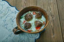 Персидский суп фрикадельки Стоковая Фотография