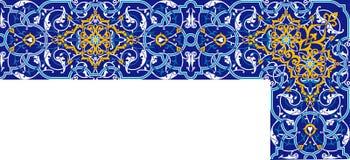 Персидский угловой орнамент Стоковые Изображения RF