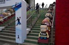 Персонажи из мультфильма Гонконга в парке Kowloon Стоковая Фотография