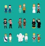 Персонажи из мультфильма костюма детей пар иллюстрация вектора
