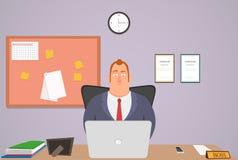 персонажи из мультфильма смешные Головной офис открыт весь день также вектор иллюстрации притяжки corel Стоковое фото RF