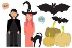 Персонажи из мультфильма хеллоуина Стоковое Изображение RF