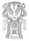 Персонаж изверга фантазии Doodle Стоковое фото RF