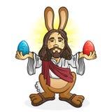 Персонаж из мультфильма Иисуса зайчика пасхи иллюстрация штока