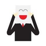 Персонаж из мультфильма бизнесмена иллюстрации вектора Стоковые Фото