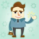 Персонаж из мультфильма бизнесмена иллюстрация вектора
