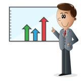 Персонаж из мультфильма бизнесмена Стоковая Фотография RF