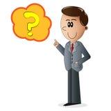 Персонаж из мультфильма бизнесмена Стоковое Изображение