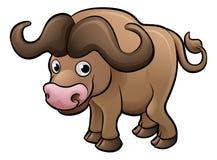 Персонаж из мультфильма животных сафари бизона иллюстрация вектора