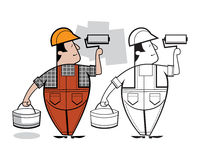Персонаж из мультфильма колеривщика Стоковое Изображение RF