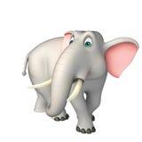 Персонаж из мультфильма милого слона смешной Стоковые Изображения RF
