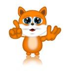 Персонаж из мультфильма Мультяшки иллюстрации кота Марвина Стоковые Фото
