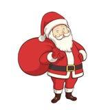 Персонаж из мультфильма Санта Клауса Стоковое фото RF