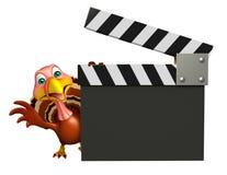 Персонаж из мультфильма Турции с clapboard Стоковое Изображение RF