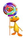 Персонаж из мультфильма утки потехи с lollypop иллюстрация штока