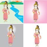 Персонаж из мультфильма ферзя Bhudda Иллюстрация штока