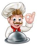 Персонаж из мультфильма шеф-повара Стоковые Фотографии RF