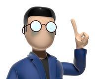персонаж из мультфильма 3D имея хорошую идею Стоковая Фотография