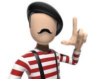 персонаж из мультфильма 3D имея хорошую идею Стоковые Изображения RF