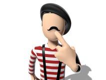 персонаж из мультфильма 3D думая о что-то Стоковая Фотография
