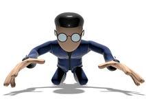 персонаж из мультфильма 3D унижает Стоковое Фото