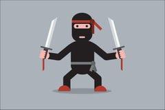 Персонаж из мультфильма Ninja иллюстрация вектора