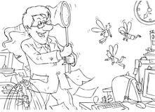 персонал дополнительного времени директора задвижек работает Бесплатная Иллюстрация
