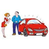 Персона дает или продает автомобиль Стоковое Изображение