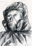 Персона в костюме защиты Стоковое фото RF